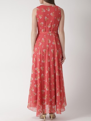floral self tie belted maxi dress - 15698682 - Standard Image - 3