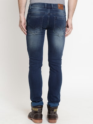 blue cotton washed jeans - 15721458 - Standard Image - 3
