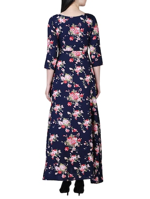 round neck floral maxi dress - 15726110 - Standard Image - 3
