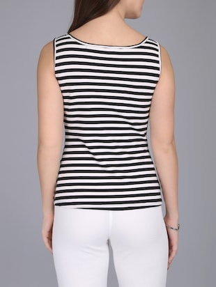 monochrome striped tank top - 15726291 - Standard Image - 3