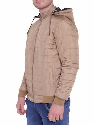 brown polyester blend reversible jacket - 15726591 - Standard Image - 3