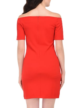 off shoulder sheath dress - 15727265 - Standard Image - 3