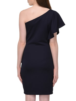 single shoulder sheath dress - 15727287 - Standard Image - 3