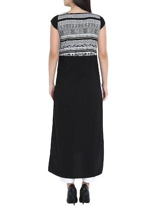 High low printed kurta - 15727448 - Standard Image - 3