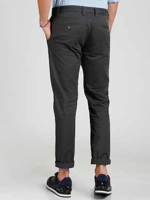 grey cotton blend chinos - 15727667 - Standard Image - 3