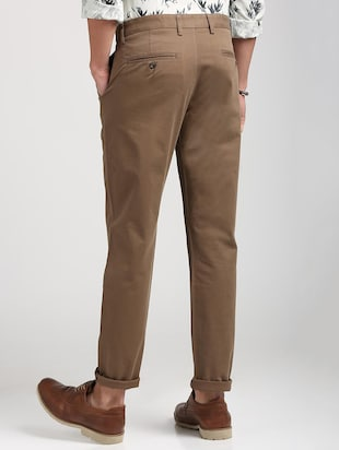 brown cotton blend chinos - 15727695 - Standard Image - 3