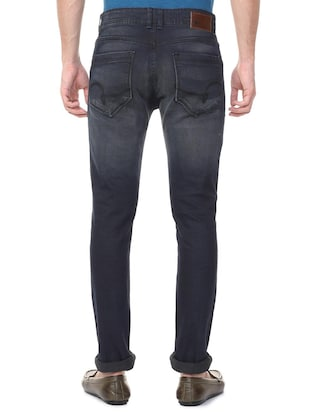 grey cotton blend washed jeans - 15728259 - Standard Image - 3