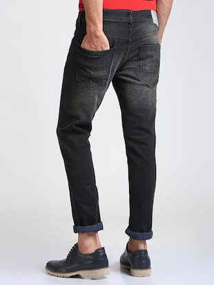 black cotton blend washed jeans - 15728261 - Standard Image - 3