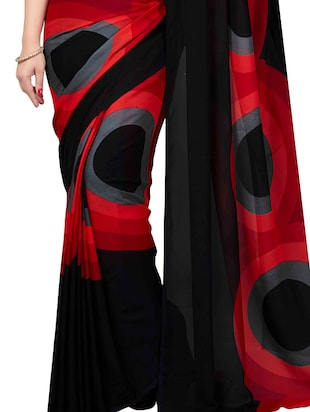 Combo Of 2 Multicolor Printed Saree with blouse - 15728697 - Standard Image - 3