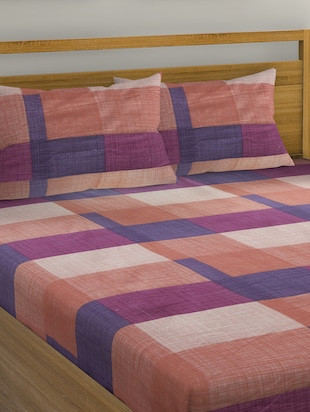 Cotton Double Bedsheet with 2 Pillow Covers - 15728926 - Standard Image - 3