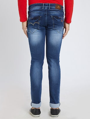 blue denim washed jeans - 15729563 - Standard Image - 3
