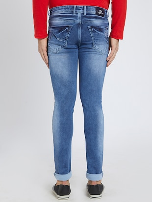 blue denim washed jeans - 15729565 - Standard Image - 3