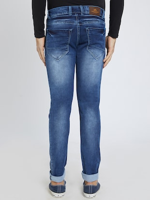 blue denim washed jeans - 15729567 - Standard Image - 3