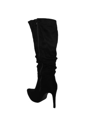 black knee length  boots - 15729809 - Standard Image - 3