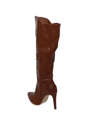 brown knee length boots - 15729819 - Standard Image - 3