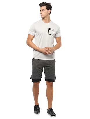 grey polyester t-shirt - 15729949 - Standard Image - 3
