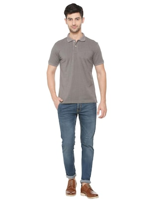 grey cotton all over print t-shirt - 15729970 - Standard Image - 3
