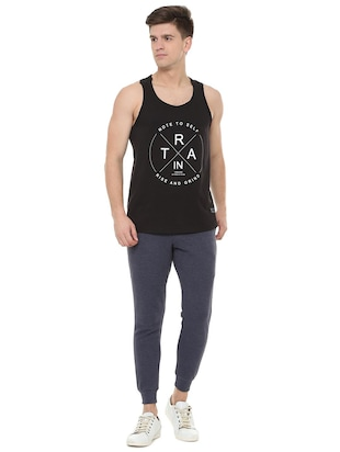 black cotton vest - 15729993 - Standard Image - 3