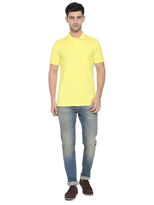 yellow cotton pocket t-shirt - 15729997 - Standard Image - 3