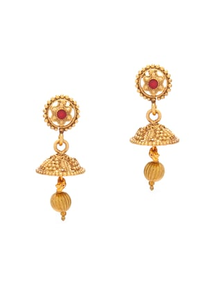 gold metal necklaces and earring - 15731217 - Standard Image - 3