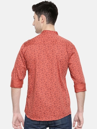 red cotton casual shirt - 15731561 - Standard Image - 3