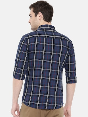 blue cotton casual shirt - 15731585 - Standard Image - 3