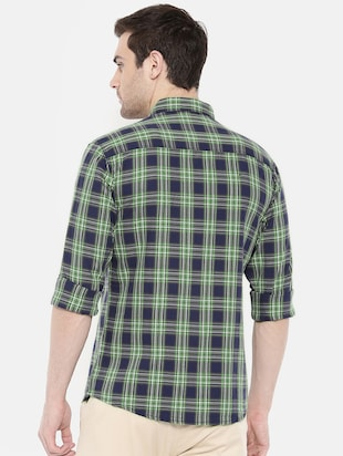blue cotton casual shirt - 15731593 - Standard Image - 3