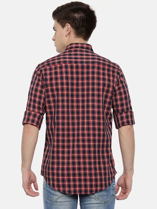 red cotton casual shirt - 15731792 - Standard Image - 3