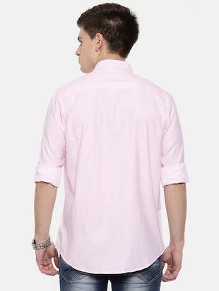 pink cotton casual shirt - 15731804 - Standard Image - 3