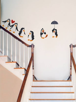 Rawpockets Wall Decals ' Living Room : Funny Penguins '  Wall stickers (PVC Vinyl) Multicolour - 15733863 - Standard Image - 3