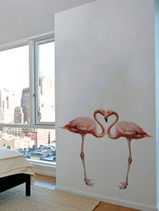 Rawpockets Wall Decals ' Bed Room Pink Flamingo '  Wall stickers (PVC Vinyl) Multicolour - 15733889 - Standard Image - 3