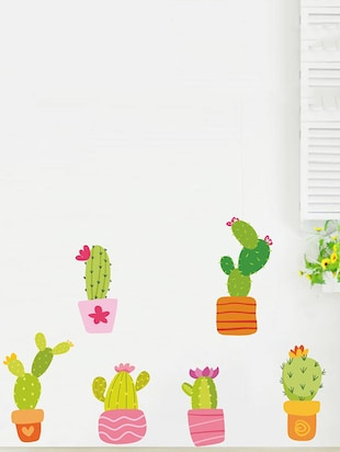 Rawpockets Wall Decals ' Cactus Story '  Wall stickers (PVC Vinyl) Multicolour - 15733904 - Standard Image - 3
