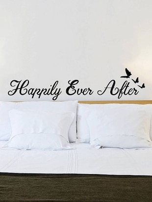 Rawpockets Wall Decals ' Happily Ever After Quote '  Wall stickers (PVC Vinyl) Multicolour - 15733915 - Standard Image - 3