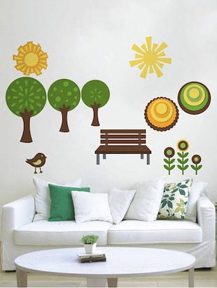Rawpockets Wall Decals ' Natural Park '  Wall stickers (PVC Vinyl) Multicolour - 15733928 - Standard Image - 3