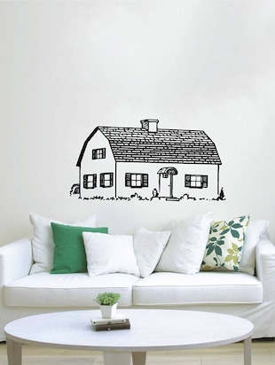 Rawpockets Wall Decals ' Beautiful Village House  '  Wall stickers (PVC Vinyl) Multicolour - 15733933 - Standard Image - 3