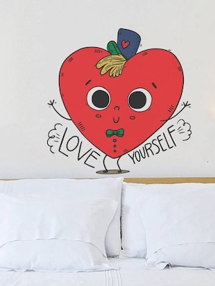 Rawpockets Wall Decals ' Love Yourself Funny Typography '  Wall stickers (PVC Vinyl) Multicolour - 15733935 - Standard Image - 3