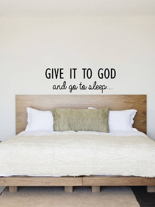 "Rawpockets Wall Decals ' "" Give it to God "" Quote '  Wall stickers (PVC Vinyl) Multicolour - 15734029 - Standard Image - 3"