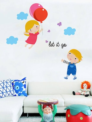 Rawpockets Wall Decals ' Let it go Cartoon - Kid's Room '  Wall stickers (PVC Vinyl) Multicolour - 15734046 - Standard Image - 3