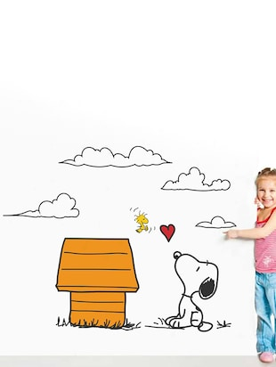 Rawpockets Wall Decals ' Snoopy Dog Love - Kid's Room '  Wall stickers (PVC Vinyl) Multicolour - 15734047 - Standard Image - 3