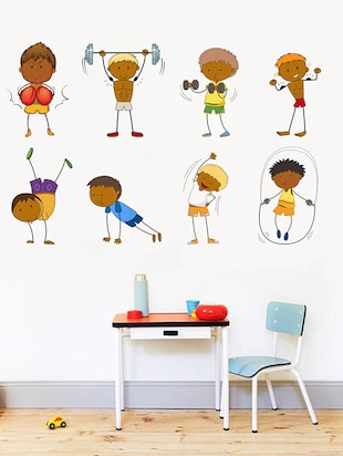 Rawpockets Wall Decals ' Kid's Activites and Game - Kid's Room '  Wall stickers (PVC Vinyl) Multicolour - 15734051 - Standard Image - 3