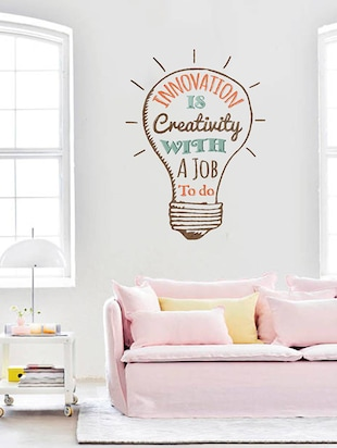 Rawpockets Wall Decals ' Quote on Innovation '  Wall stickers (PVC Vinyl) Multicolour - 15734068 - Standard Image - 3
