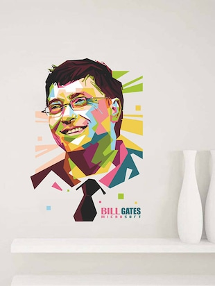 Rawpockets Wall Decals ' Bill Gates - Inspiration '  Wall stickers (PVC Vinyl) Multicolour - 15734088 - Standard Image - 3