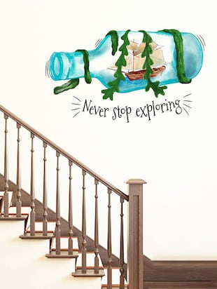 Rawpockets Wall Decals ' Never Stop Exploring '  Wall stickers (PVC Vinyl) Multicolour - 15734169 - Standard Image - 3
