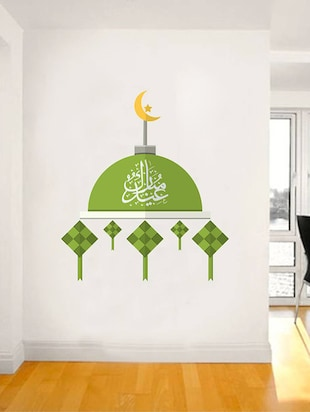 Rawpockets Wall Decals ' Exquisite Islamic Architecture? '  Wall stickers (PVC Vinyl) Multicolour - 15734171 - Standard Image - 3