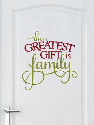 Rawpockets Wall Decals '  The Greatest Gift is Family?' Quote '  Wall stickers (PVC Vinyl) Multicolour - 15734193 - Standard Image - 3