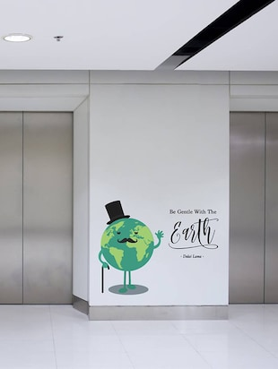 Rawpockets Wall Decals ' Be Gentle with Earth '  Wall stickers (PVC Vinyl) Multicolour - 15734195 - Standard Image - 3