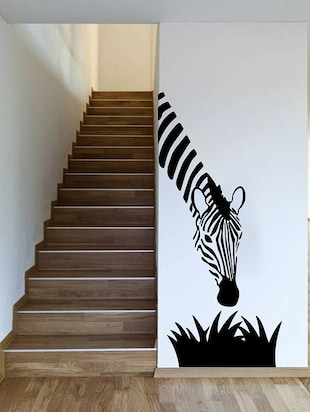 Rawpockets Wall Decals ' Zebra? '  Wall stickers (PVC Vinyl) Multicolour - 15734210 - Standard Image - 3