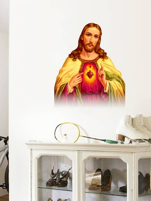 Rawpockets Wall Decals ' Jesus '  Wall stickers (PVC Vinyl) Multicolour - 15734214 - Standard Image - 3