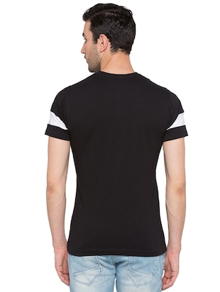 black cotton monochrome t-shirt - 15735274 - Standard Image - 3