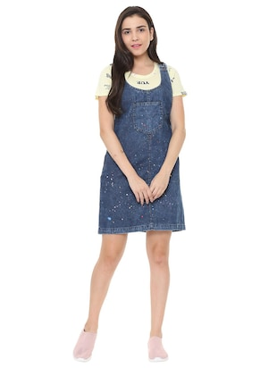 pocket patch pinafore dress - 15735387 - Standard Image - 3